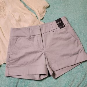 NWT New York & Co Cuffed Sateen Shorts Sz 0